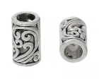 DoreenBeads-Spacer-Beads-Cylinder-Antique-Silver-Pattern-Carved-Hollow-About-9mm-3-8-x-5mm-2