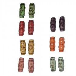 ethic maya aztec dread bead