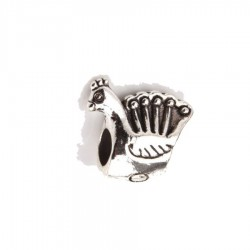peacock dread bead