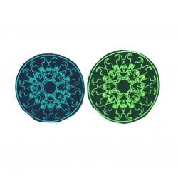 """10cm 4"""" Fluo mandala swirlty geometry patch"""