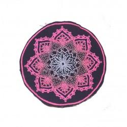 "10cm 4"" Fluo mandala mendhi swirlty geometry patch"