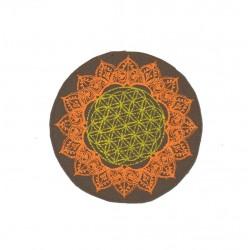 "4""/10cm Flower of life geometry mandala  fluo  patch"