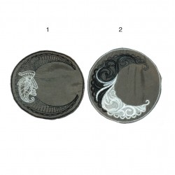 "10cm 4"" Fluo mandala swirly geometry patch"