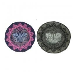 "10cm 4"" Fluo pink ganesha elephant patch"