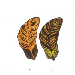 """15cm / 6"""" Feather native  patch applique"""
