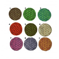 """3"""" / 7cm Flower of life geometry patch"""