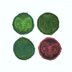 "7cm / 2.5"" Butterfly patch"