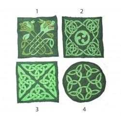 "10cm / 4"" Swirly geometry mandala patch"