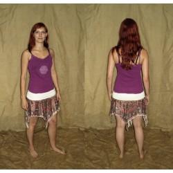 XS/L Retro pointy fringed gypsy elven skirt