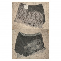 UpCycLED XL rusty brown crochet lace doilies skirt