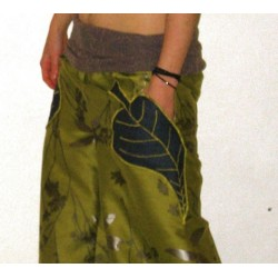 Custom made leaf leaves pockets woodland pants