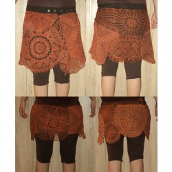 Custom made crochet lace  bohemian doilies skirt