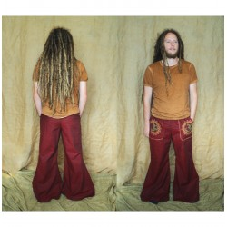 Ohm aum mandala wide legged pants with pockets.