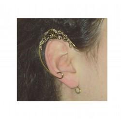 Bronze flower brass fairy elven ears