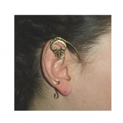 Purple brass elven ears