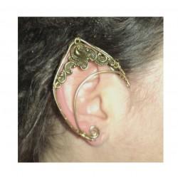 Bronze flower brass elven ears