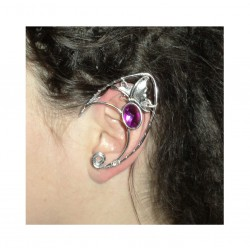 Left butterfly silver fairy elven ear