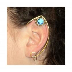 Blue crystal brass fairy elven ears
