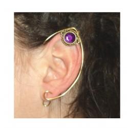 Pink crystal brass fairy elven ears