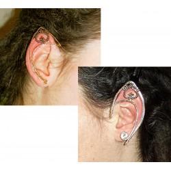 Silver or bronze fairy elven ears