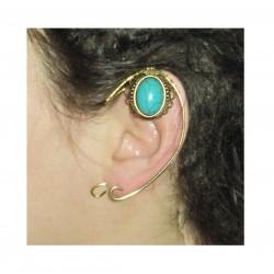 Red crystal brass fairy elven ears