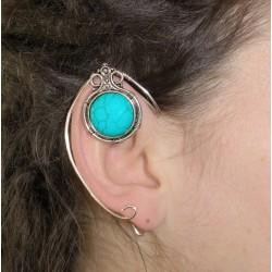 Turquoise gemstone silver fairy elven ears
