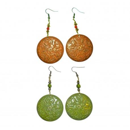 Patina gemstone earring