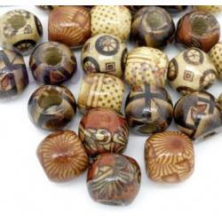 Wooden S or L dreadlock bead