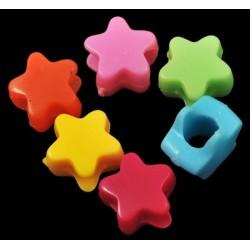 1 Colorful Star dreadlocks bead