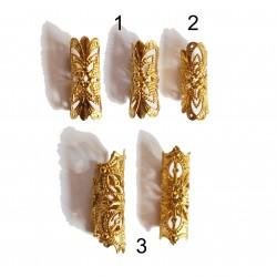 1 Bohemian  brass dread bead