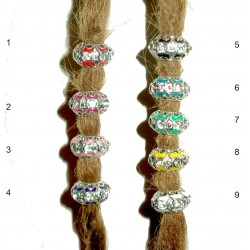 Rhinestone dreadlock bead