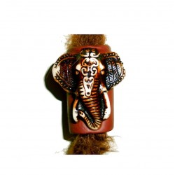 ganesha elephant dread bead