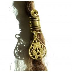 ethnic teardrop dread bead