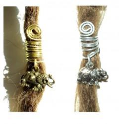 elephant ganesha ethnic dread bead
