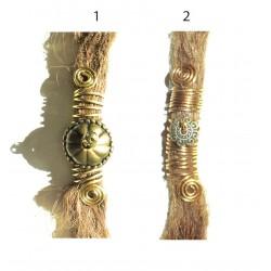 mandala ethnic dread bead
