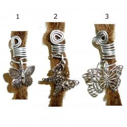 butterfly dread bead
