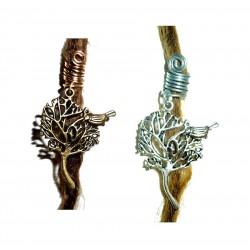 bird in tree dread bead